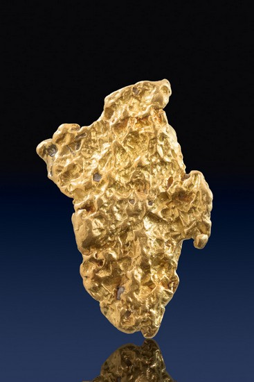 Brilliant and Large Alaska Gold Nugget