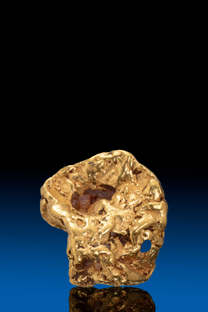 Round Faceted Natural Alaska Gold Nugget - 2.62 grams