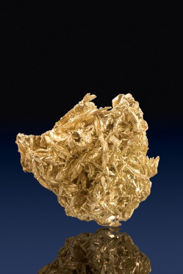Intricate and Beautiful Wire Gold Cluster - Olinghouse Mine