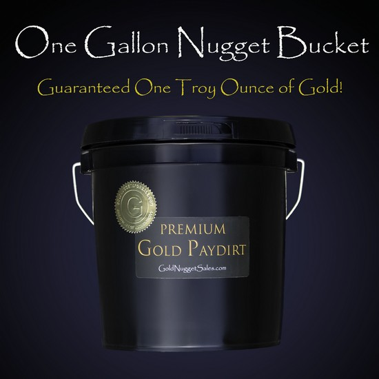 1 Gallon Nugget Bucket PayDirt -One Troy Ounce Gold Guaranteed