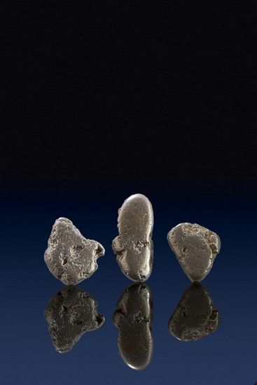 Three River Worn Natural Platinum Nuggets - Columbia