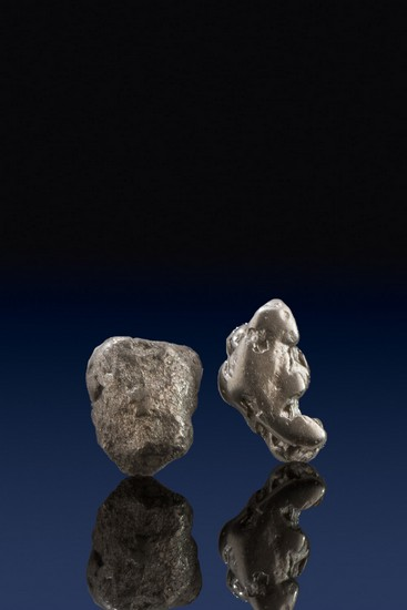 Unique Shaped Pair of Platinum Nuggets - Choco, Columbia