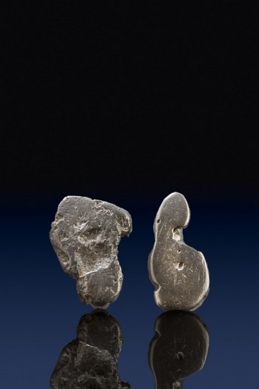 Two River Worn Natural Platinum Nuggets - Choco, Columbia