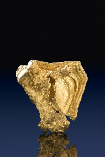 Faceted and Hoppered Gold Nugget Crystal -Round Mountain, Nevada