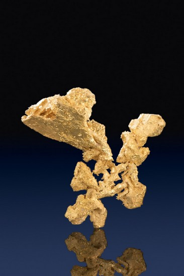 Intricate Shaped Gold Nugget Crystal - Round Mountain Gold Mine