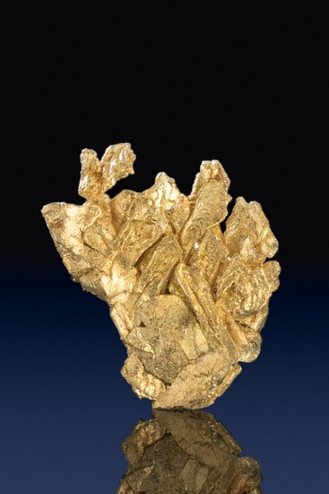 Brilliant Gold Crystal from the Famous Round Mountain Gold Mine