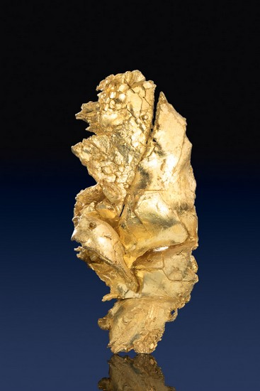 Beautiful Luster - Leaf Gold Specimen from Round Mountain