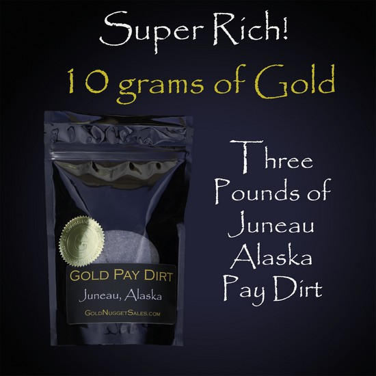 Super Rich Gold Paydirt - 3 Pound Bag with 10 Grams of Gold