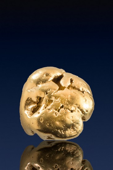 Rounded and Chunky Natural Yukon Gold Nugget