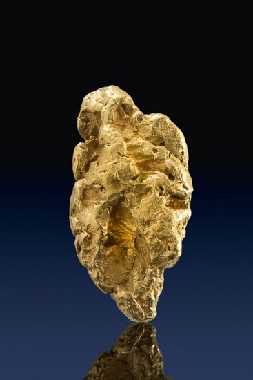 Elongated and Chunky Natural Yukon Gold Nugget