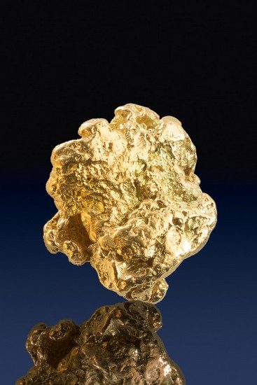 Beautiful Textured Natural Gold Nugget from the Yukon