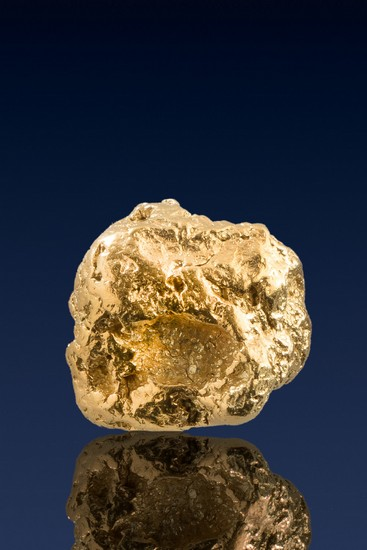 Round and Chunky - A Fat Natural Yukon Gold Nugget