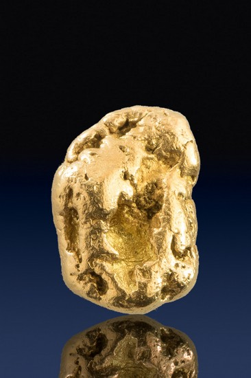 Oblong and Intricate - Natural Yukon Gold Nugget