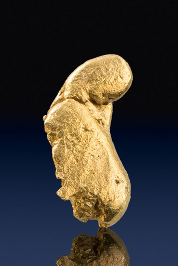 Oblong River Worn Yukon Gold Nugget