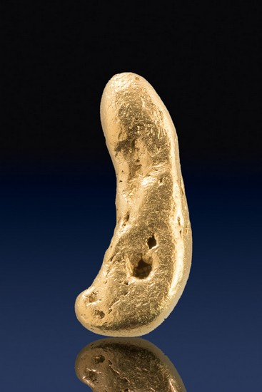 Long and Slightly Curved - Natural Yukon Gold Nugget