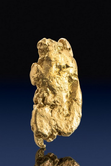 Recatangular and River Worn - Natural Yukon Gold Nugget