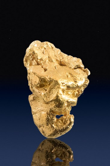 Chunky Triangular Yukon Gold Nugget