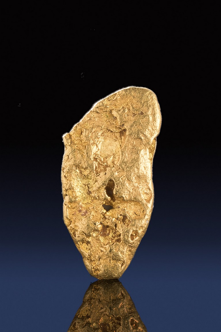 Longer Tapered Natural California Gold nugget