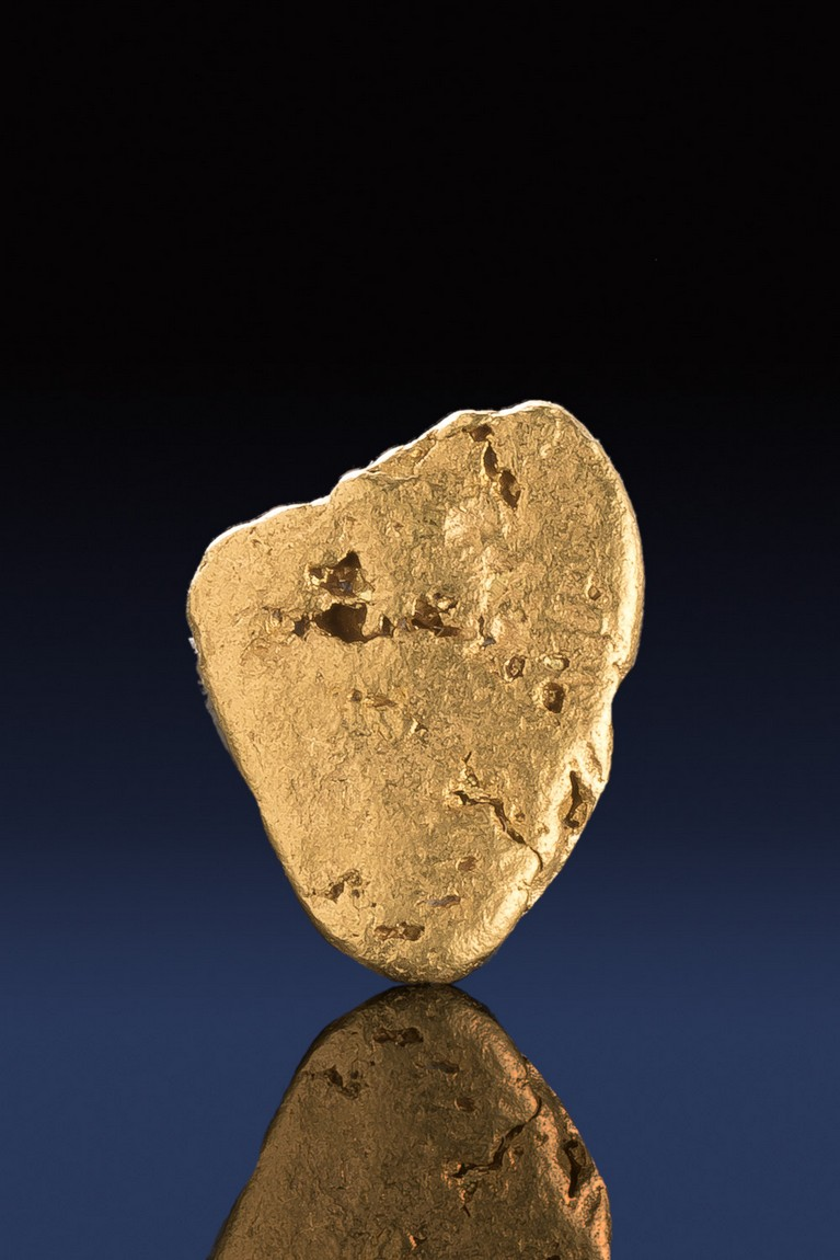 Rounded Triangular Gold Nugget from California