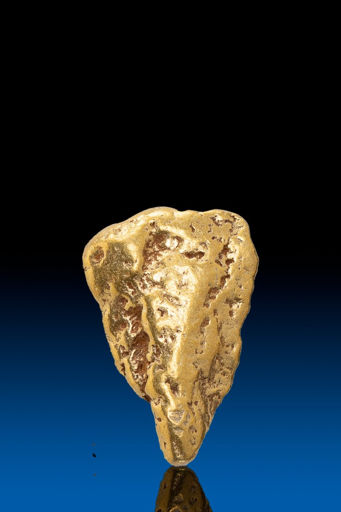 Triangular Flat Alaska Natural Gold Nugget - 2.08 grams