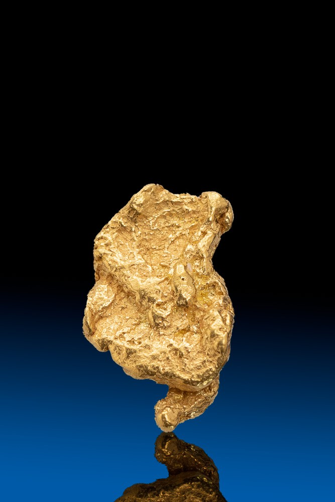 Rough Oblong Alaska Natural Gold Nugget - 2.08 grams
