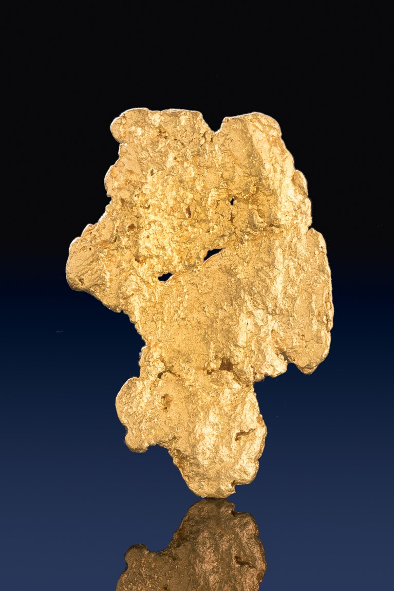 Raw Gold Nugget Shaped Like a Brontosaurus