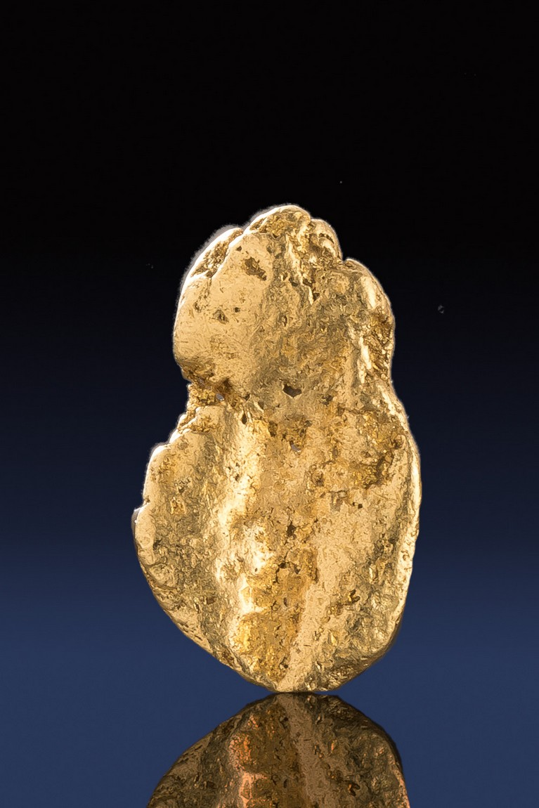 Oval Shaped Natural California Gold Nugget